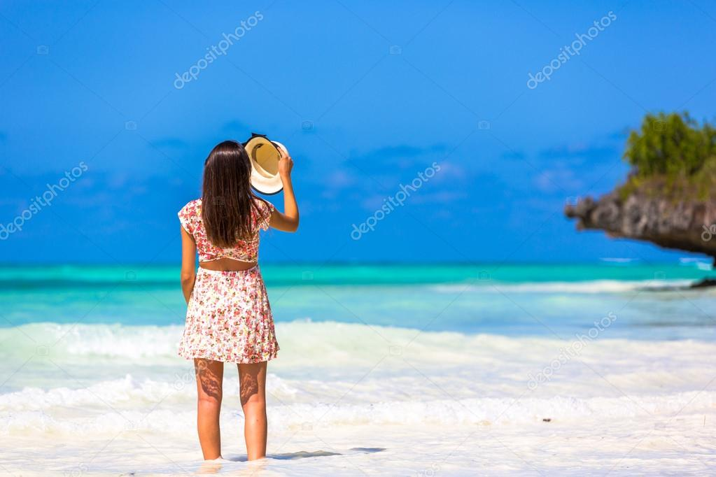Woman enjoying beautiful beach