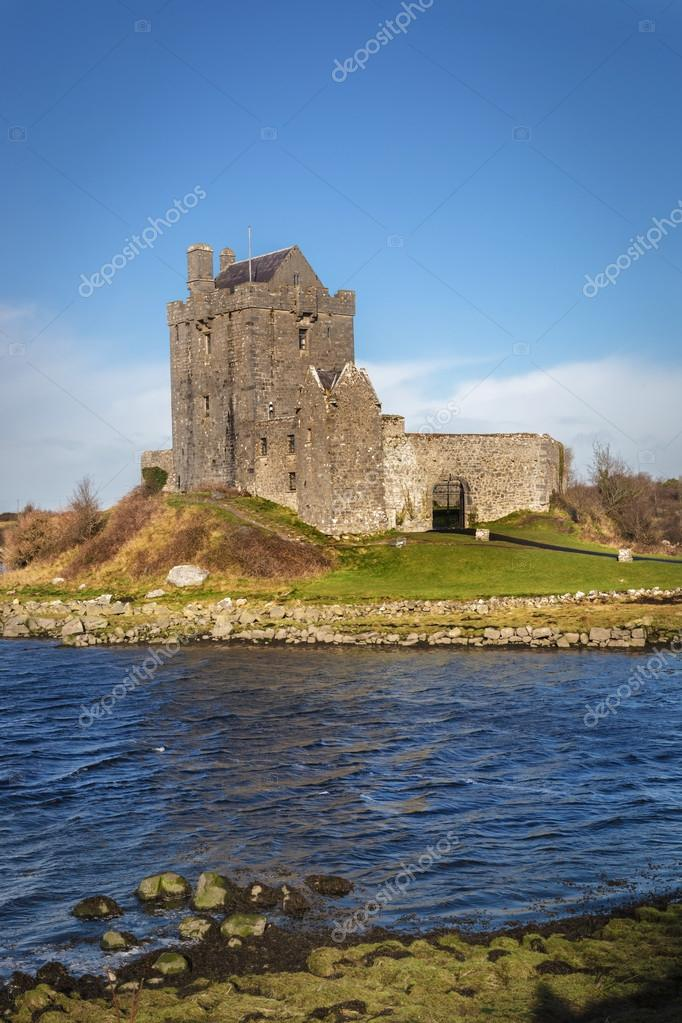Castle in countryside of Ireland