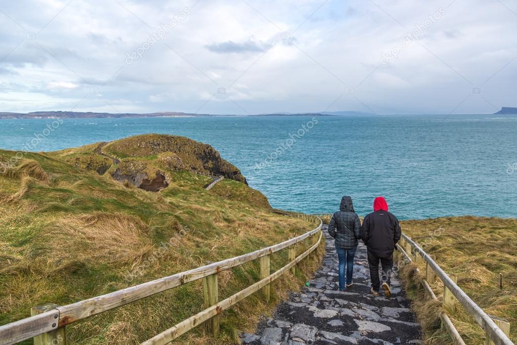 Tourists enjoying landscapes
