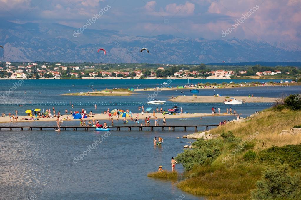 Tourists enjoying blue water