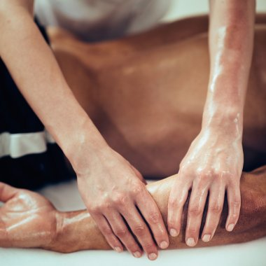 Physical therapist doing massage
