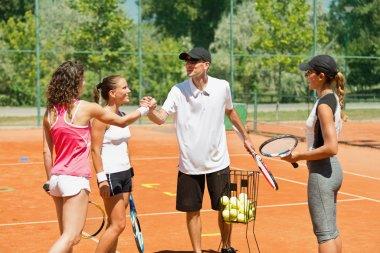 Popular tennis instructor
