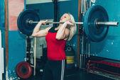 Blonďatá samice tréninků