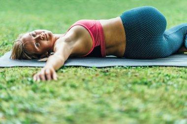 Young woman doing Yoga