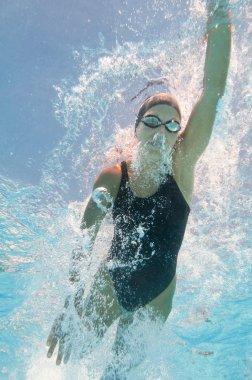 athlete swimming in swimming pool