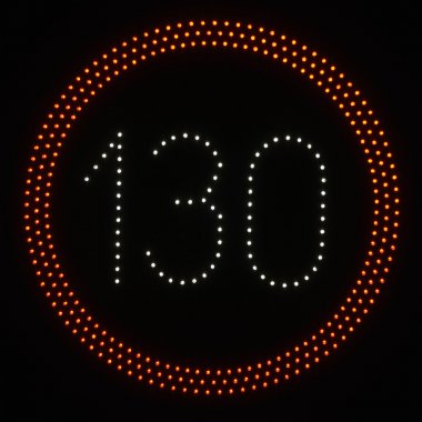 LED light speed limit sign