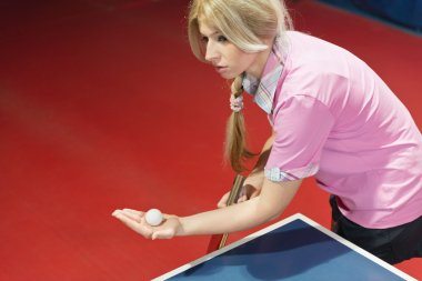 Female table tennis player