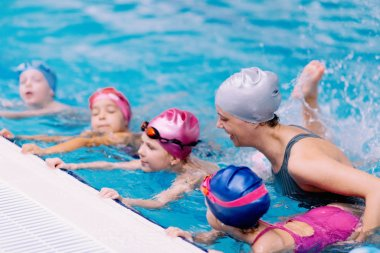 Swimming class for children