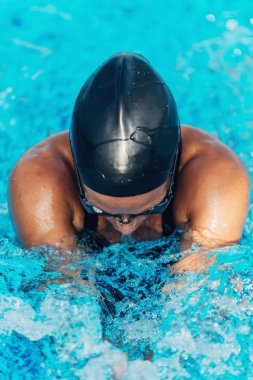 Professional female swimmer