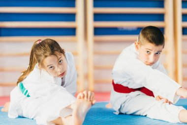 Children at  Martial Arts Training Class