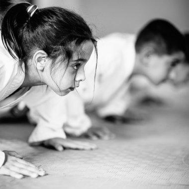 Taekwondo girl at Martial Arts training