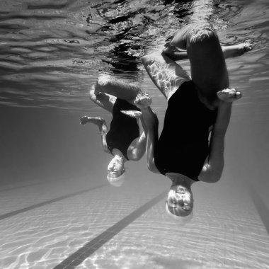 Synchronized swimmer duet