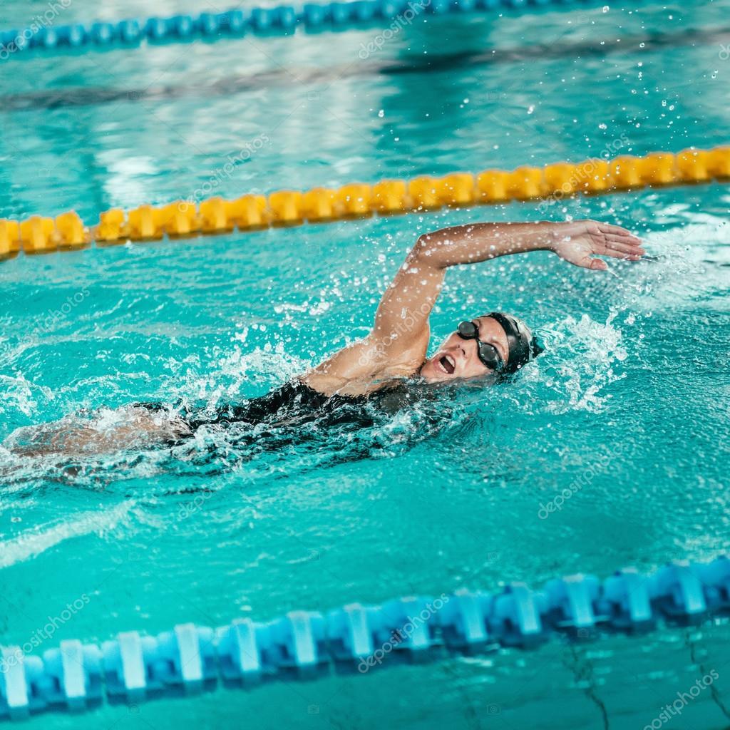 クロール泳者 — ストック写真 © ...
