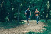 Fotografie junges Paar jogging
