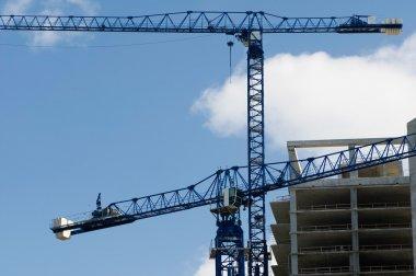 Construction crane over sky