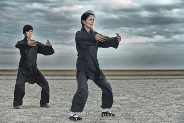 Women practicing Tai Chi Chuan