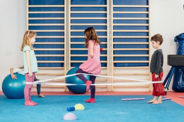 Children playing on physical education class