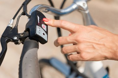 Turning on electric bicycle