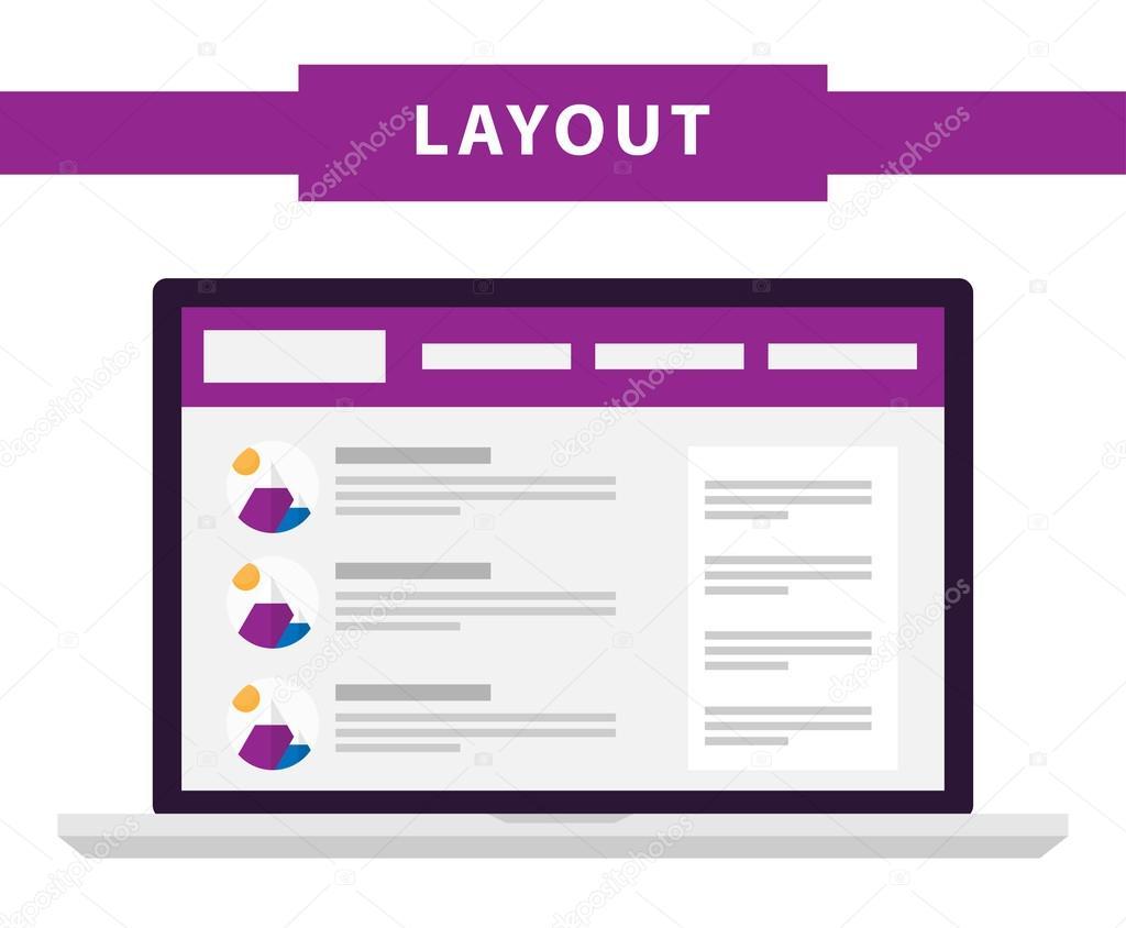 Set de vectores de iconos de plantillas de sitio web plana simple ...