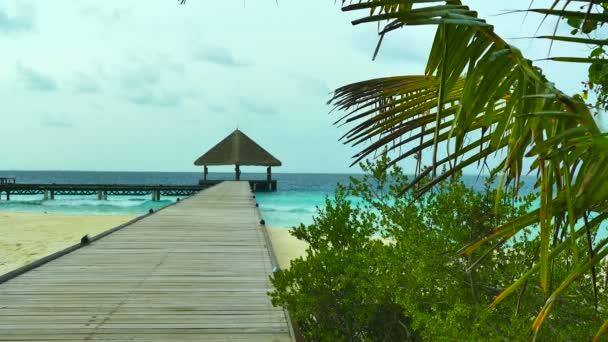 a gyönyörű Maldív-szigetek sziget fedélzeti