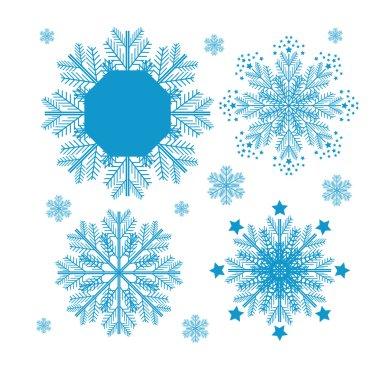 Christmas set with snowflakes.