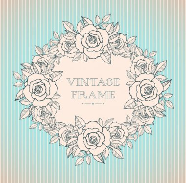 Beautiful vector vintage square frame