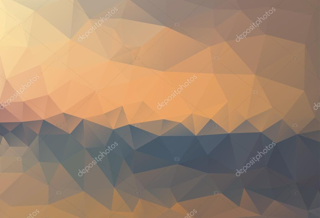Mountains, sky. Triangle background