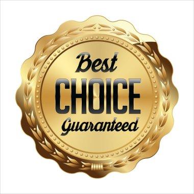 Gold Shiny Luxury Badge Best Choice.