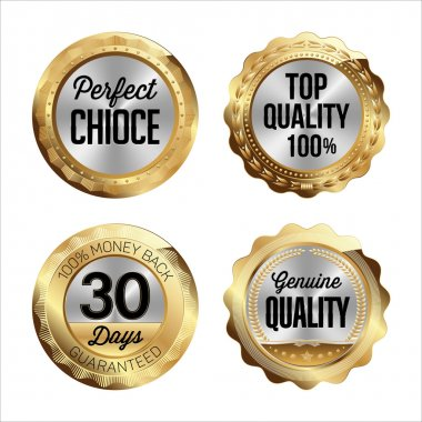 Gold and Silver Badges.  Perfect Choice, Top Quality 100%, 30 Days Money Back, Genuine Quality.