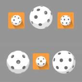 Ploché florbalový míček pro logo týmu a na mistrovství