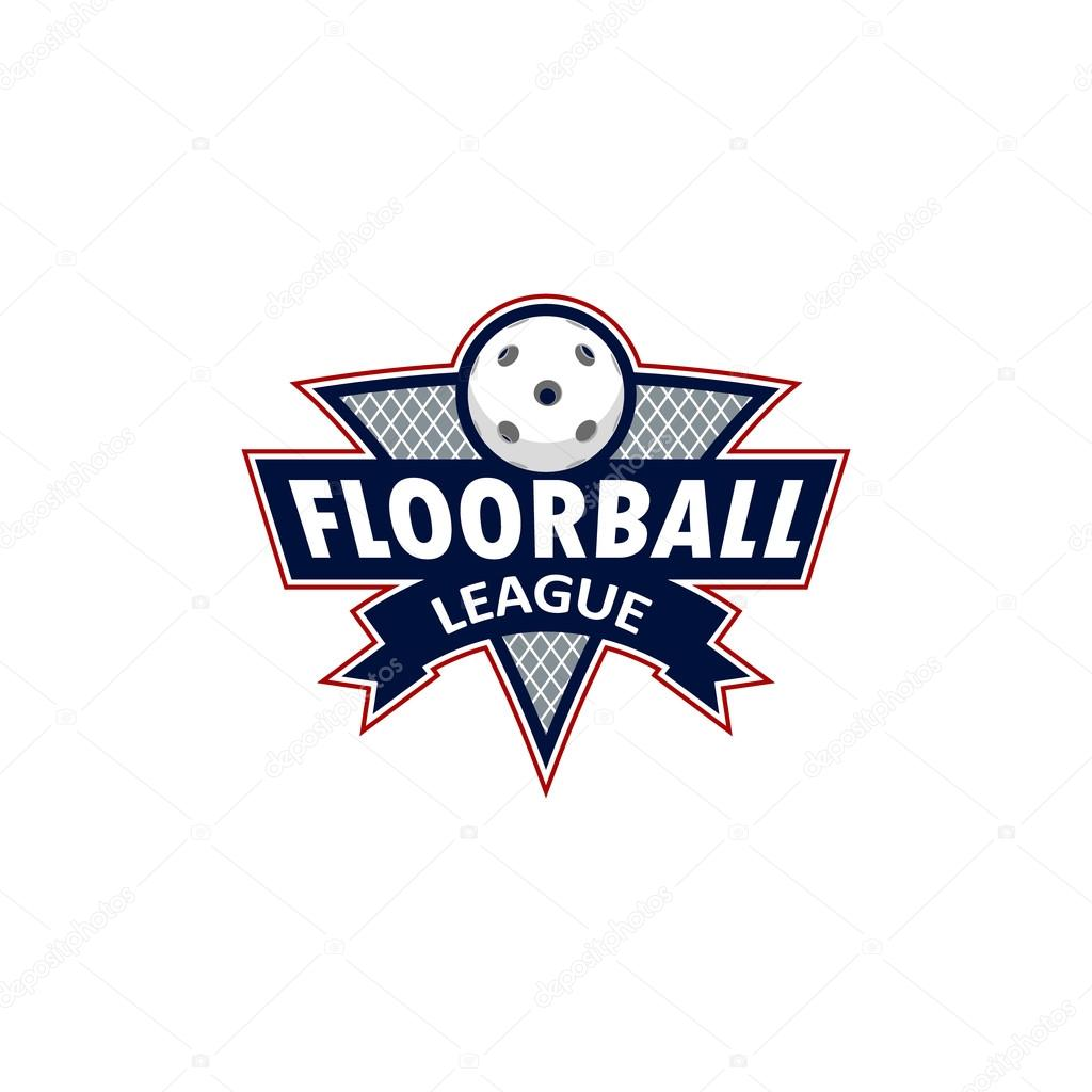 Florbal Logo Tymu A Na Mistrovstvi Stock Vektor C 3t0n4k Gmail Com