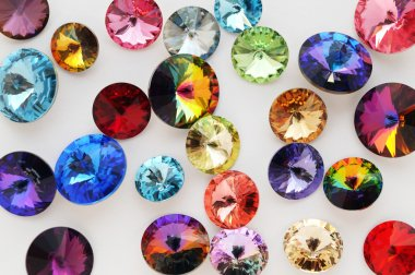 Rainbow crystals and gems