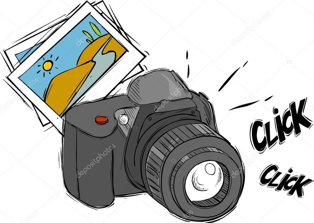 illustration vectorielle d un appareil photo de dessin anim image vectorielle corbacserdar. Black Bedroom Furniture Sets. Home Design Ideas