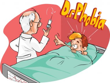 Doctor giving an injection