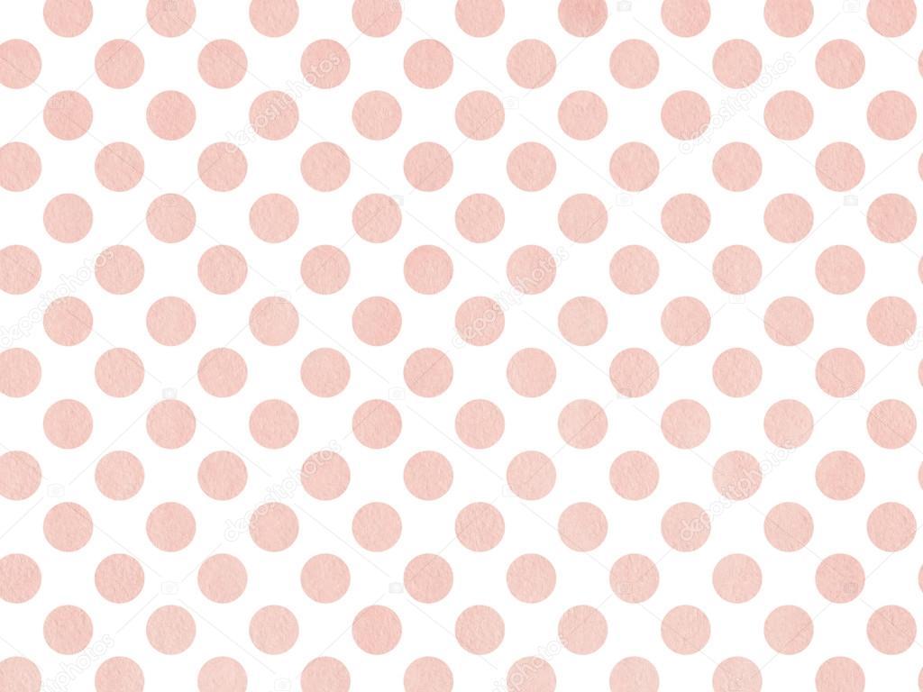Acuarela puntos en color rosa aislado sobre blanco — Fotos de Stock ...