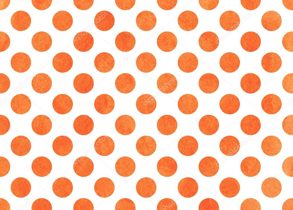 Watercolor Orange Polka Dot Background Stock Photo 169 4