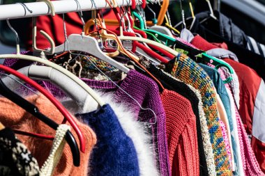 colorful women's sweaters for second life at flea market
