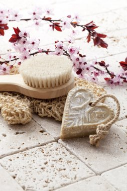 washing up with soft exfoliation and massage