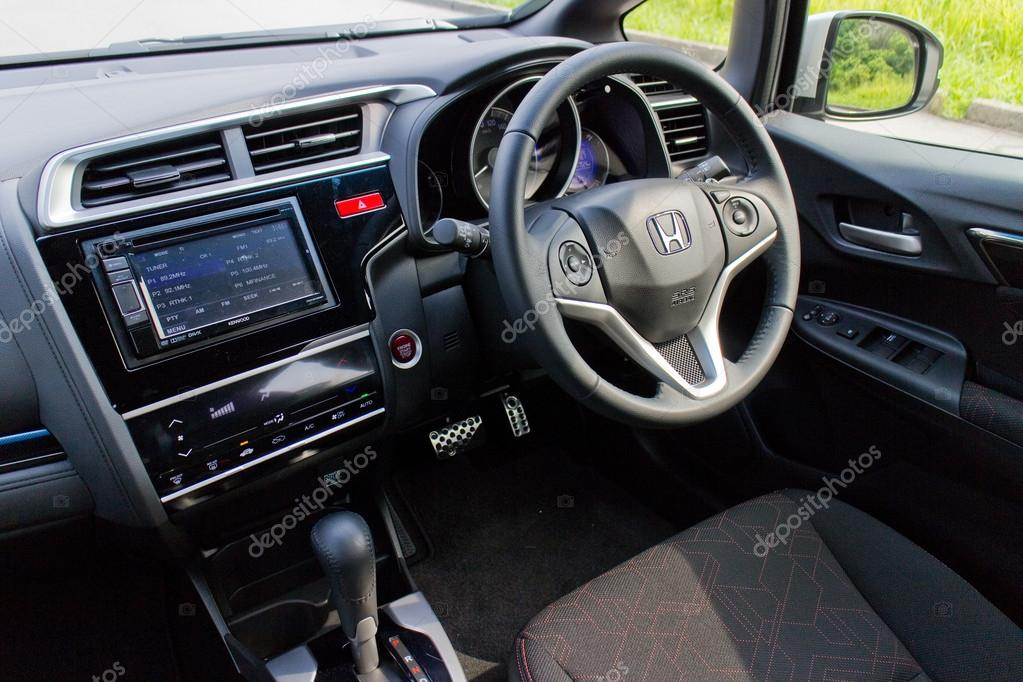 Honda Jazz passen 2014 Interieur — Redaktionelles Stockfoto ...