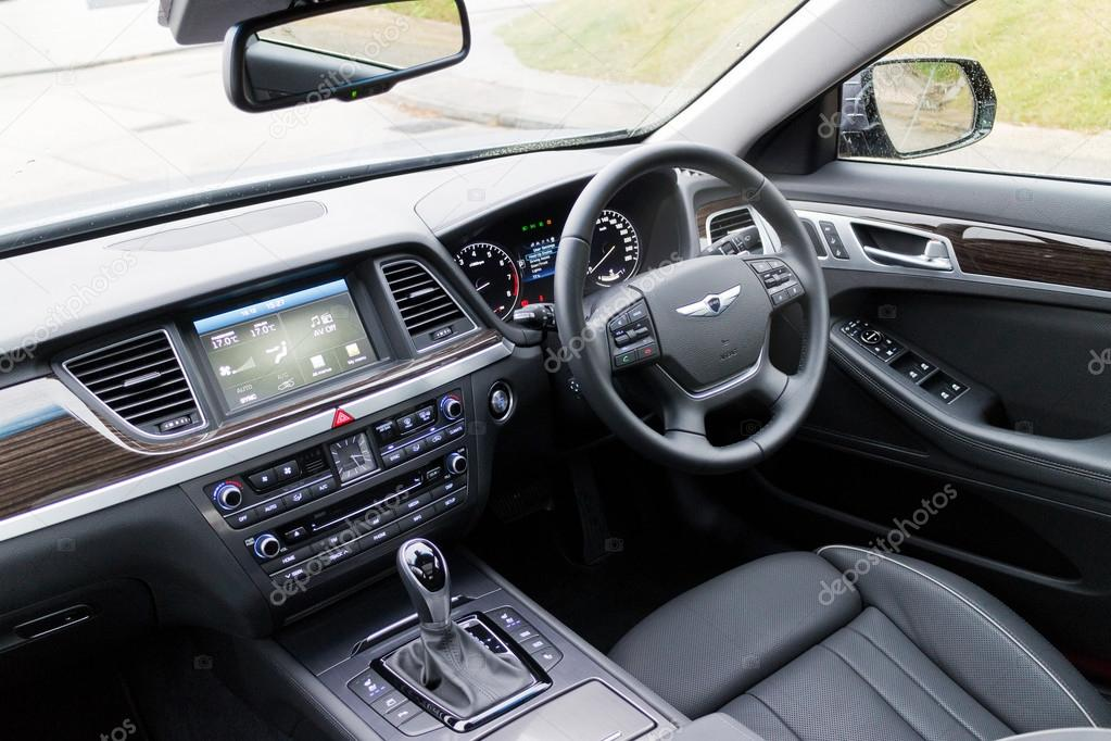 Hyundai GENESIS 2015 Interior U2014 Stock Photo