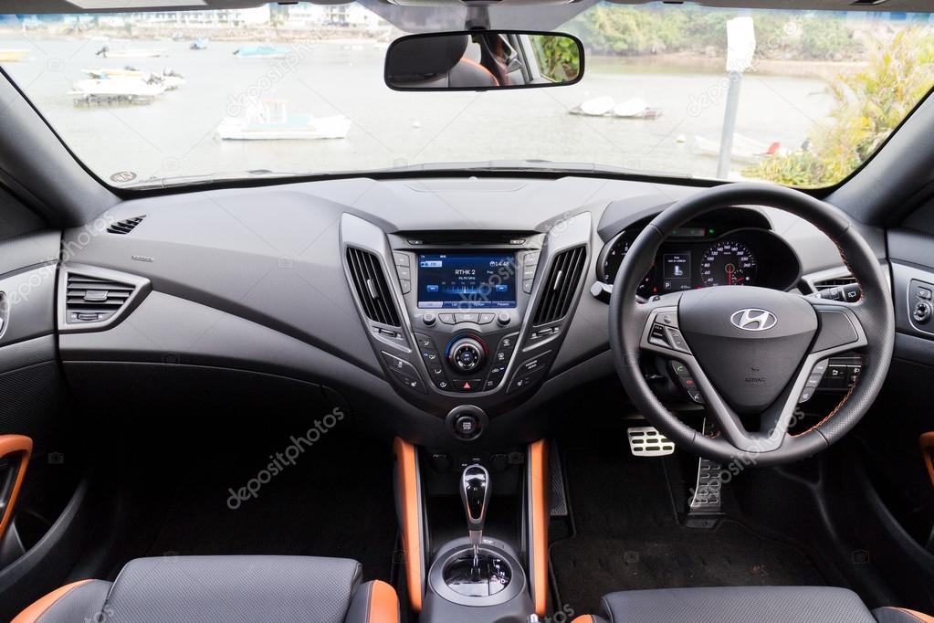 Hyundai Veloster 2015 Interior U2014 Stock Photo