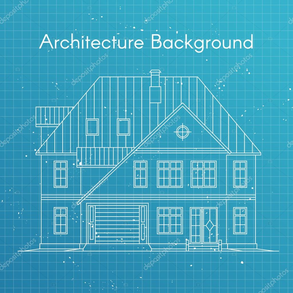 Vector illustration of family house or cottage architecture vector illustration of family house or cottage architecture blueprint background vector de stock malvernweather Image collections