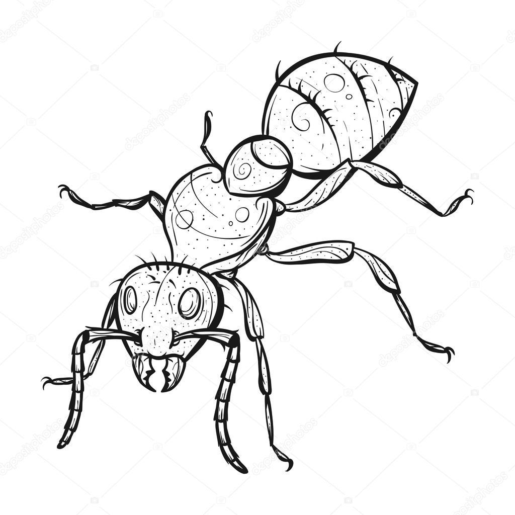 vector monochroom getekend zentagle illustratie