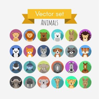 Vector avatars of animals