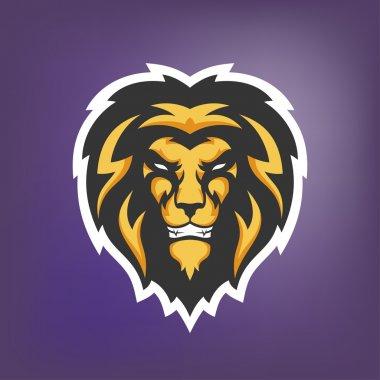 Illustration of lion head. Sport mascot.