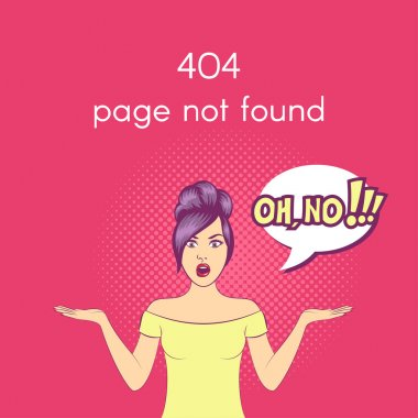 Vector 404 Page not found illustration.