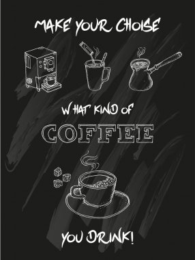 All about coffee Doodle set