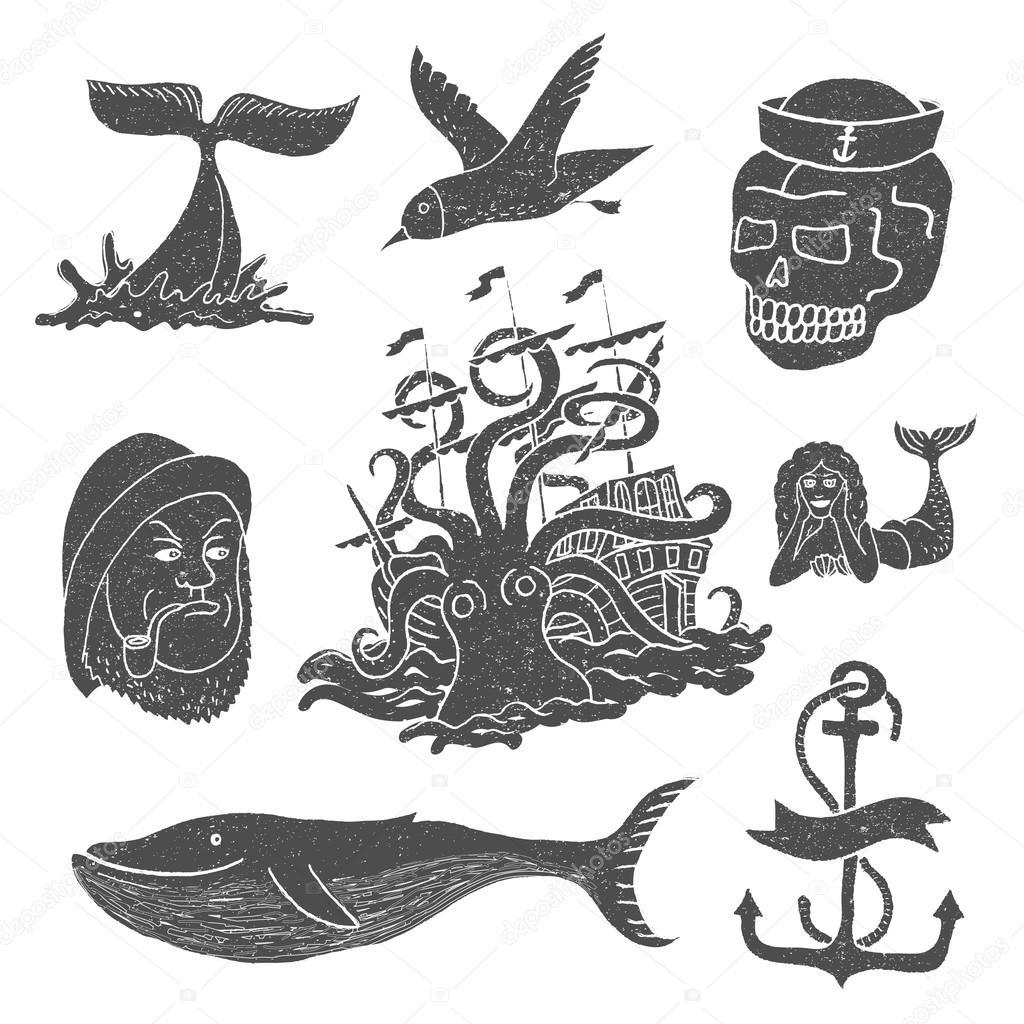 Marine themes & tattoo