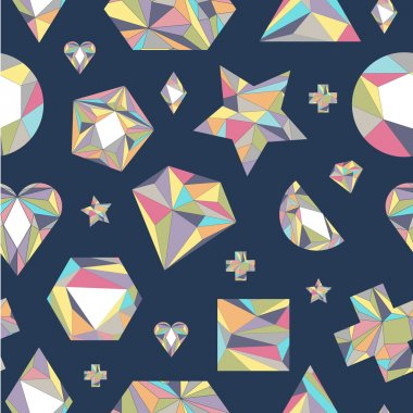 Seamless pattern with geometric shapes.