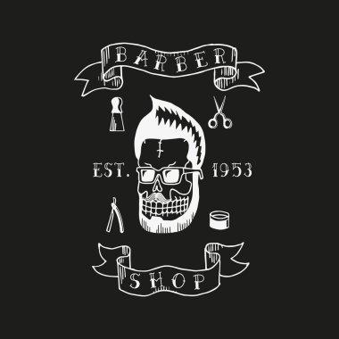 Barber shop. Trendy elements